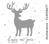 happy new year   christmas card ...   Shutterstock .eps vector #514028677