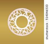 laser cut monogram letter o... | Shutterstock .eps vector #514046533