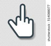 isolated middle finger hand... | Shutterstock .eps vector #514088077