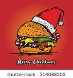 Christmas colorful hamburger