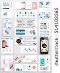 geometric background template... | Shutterstock .eps vector #514103263