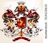 heraldic design in vintage... | Shutterstock .eps vector #514113613