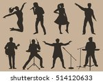 set of brown silhouettes of... | Shutterstock .eps vector #514120633