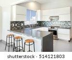 modern kitchen in white with... | Shutterstock . vector #514121803