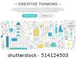 vector elegant thin flat line... | Shutterstock .eps vector #514124503