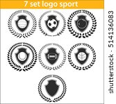 sport logo design illustration... | Shutterstock .eps vector #514136083