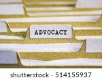 Small photo of ADVOCACY word on card index paper