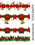 set of n seamless christmas... | Shutterstock .eps vector #514156693