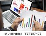 business graph analysis... | Shutterstock . vector #514157473