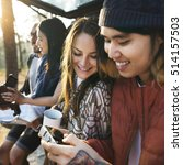 people friendship hangout... | Shutterstock . vector #514157503