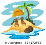 seats on private island... | Shutterstock .eps vector #514172983