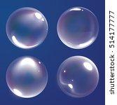 realistic bubble  | Shutterstock . vector #514177777