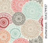 seamless pattern.  hand drawn... | Shutterstock .eps vector #514179937