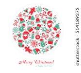 merry christmas background. eps ... | Shutterstock .eps vector #514189273