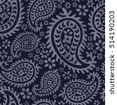 boho style paisley floral... | Shutterstock .eps vector #514190203