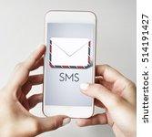envelope letter e mail mobile... | Shutterstock . vector #514191427