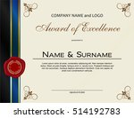 award of excellence with wax... | Shutterstock .eps vector #514192783