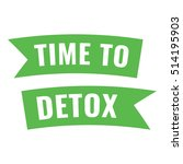 time to detox. ribbon  icon ...