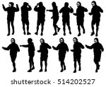 dancer men in rap style on...   Shutterstock .eps vector #514202527