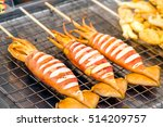 grilled squid cooking  thai... | Shutterstock . vector #514209757