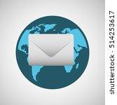 concept globe message envelope...