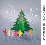 illustration of  merry... | Shutterstock .eps vector #514273093