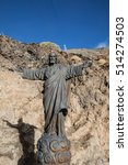 Small photo of Jesus Christ statue at the base of the Teide aerial tramway (Tenerife - Spain)