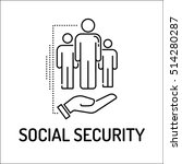 social security line icon   Shutterstock .eps vector #514280287