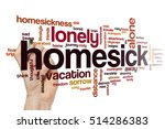homesick word cloud concept | Shutterstock . vector #514286383