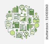 audit round green sign. vector...   Shutterstock .eps vector #514303063