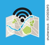 symbol wifi shield metal icon... | Shutterstock .eps vector #514303693