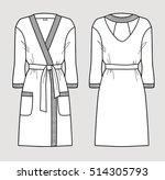 white bathrobe for women.... | Shutterstock .eps vector #514305793