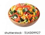 vegetable salad | Shutterstock . vector #514309927