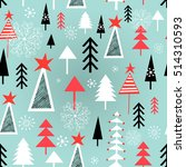 festive christmas pattern with... | Shutterstock .eps vector #514310593