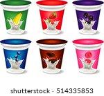 yogurt packaging design... | Shutterstock .eps vector #514335853