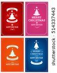 christmas party invitation...   Shutterstock .eps vector #514337443