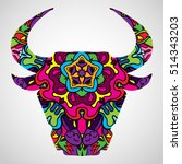 Psychedelic Bull Head...