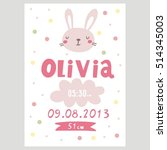 baby shower poster. newborn... | Shutterstock .eps vector #514345003