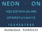 neon light alphabet vector font. | Shutterstock .eps vector #514352113