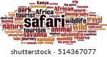 safari word cloud concept.... | Shutterstock .eps vector #514367077