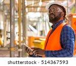 attractive african american... | Shutterstock . vector #514367593
