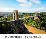 hdr clifton suspension bridge... | Shutterstock . vector #514375603