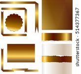gold backgrounds and ribbon... | Shutterstock .eps vector #514377367