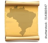 vector paper scroll with brazil | Shutterstock .eps vector #514383547