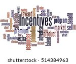 incentives  word cloud concept... | Shutterstock . vector #514384963