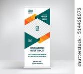 banner roll up design  business ...   Shutterstock .eps vector #514428073
