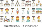 human resources vector line... | Shutterstock .eps vector #514434097
