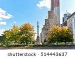 Columbus Circle In Manhattan...