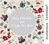christmas card with cute santa  ...   Shutterstock .eps vector #514446667