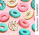 glazed donuts seamless | Shutterstock .eps vector #514448557